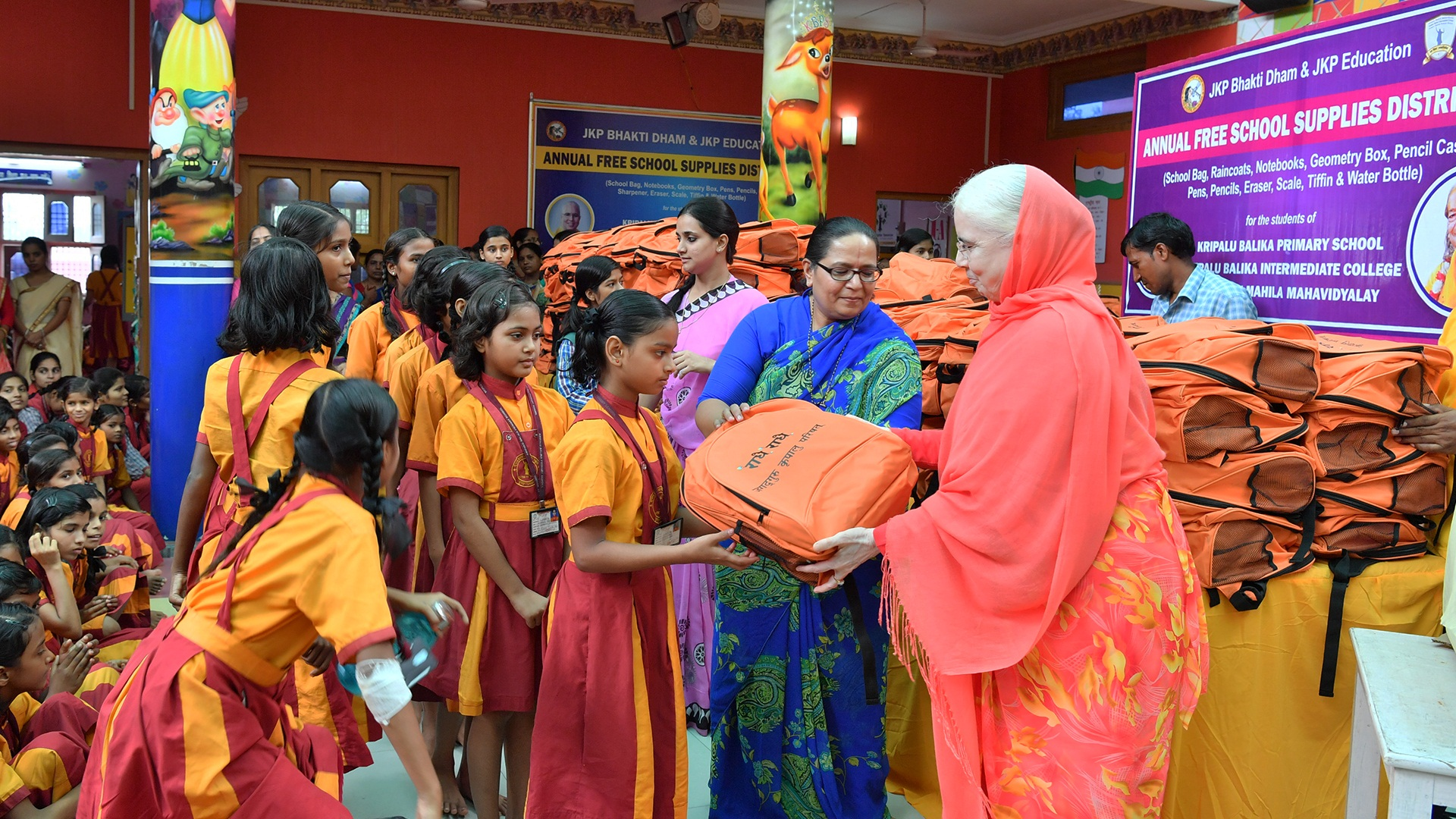 JKP distributes free educational, other materials to 4K students at Mangarh