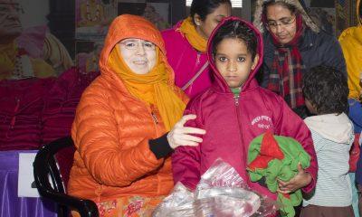 Jagadguru Kirpalu Parisha, JKP, Warm Clothes, Winter season, Chilly weather, Sridham Vrindavan, Prem Mandir, Uttar Pradesh news, Regional news, Spiritual news, Religious news