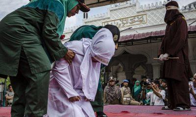 Man, Woman, Illicit relationship, Extramarital affair, Love affair, Jakarta, Woman man publicly caned, Indonesia, World news