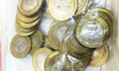 Indian Coins, Robbers stole coins, Bank, Coin stolen from bank, Indian Currency, Syndicate Bank