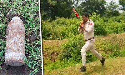 Madhya Pradesh, MP Police, Police ran away with bomb, Bomb in School, Sagar, Regional News