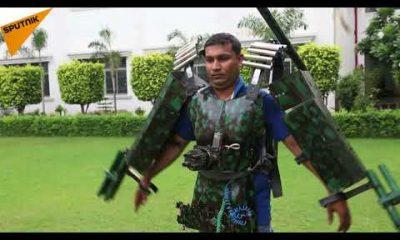 Indian Army, Indian Soldier, Man created metal gunsuit, Gunsuit for Soldiers, Varanasi, Defense, Uttar Pradesh