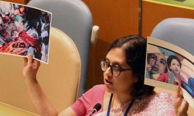 India, Pakistan, Palestinian girl, Rawya Abu Jom, Paulomi Tripathi, Sushma Swaraj, Maleeha Lodhi, United Nations, Terrorism, Kashmir, World news