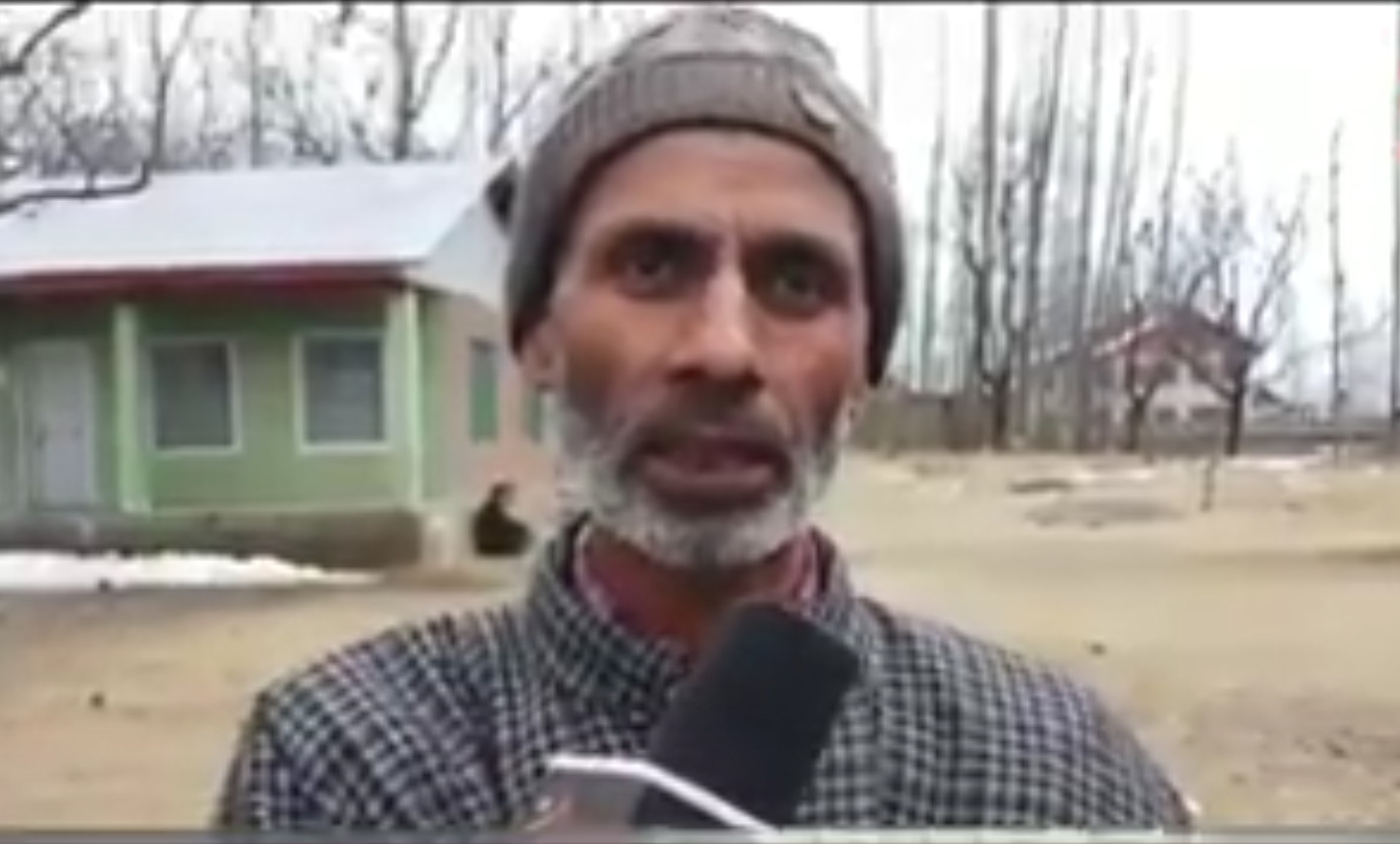 The father of suicide bomber Adil Ahmad Dar, who rammed explosive ridden car into CRPF convoy killing 49 paramilitary personnel