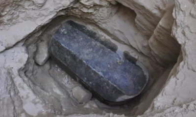 Ancient sarcophagus, Egyptian sarcophagus, Egyptian coffin, Box like stone coffin, Discovery TV, Discovery Channel, Mysterious mummy, Weird news, Offbeat news