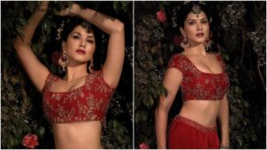 Sunny Leone, Lehenga choli, Bridal dress of Sunny Leone, Porn star, Porn actress, Adult film actress, Adult film star, Bollywood actress, Bollywood diva, Web series, Vows magazine, Bollywood news, Entertainment news