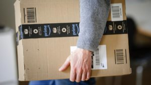 Amazon, Uber, Biometric data, Delivery man, Delivering packages, Selfies, Online delivering company, E-commerce company, India Largest Online Store, American multinational company, Business news
