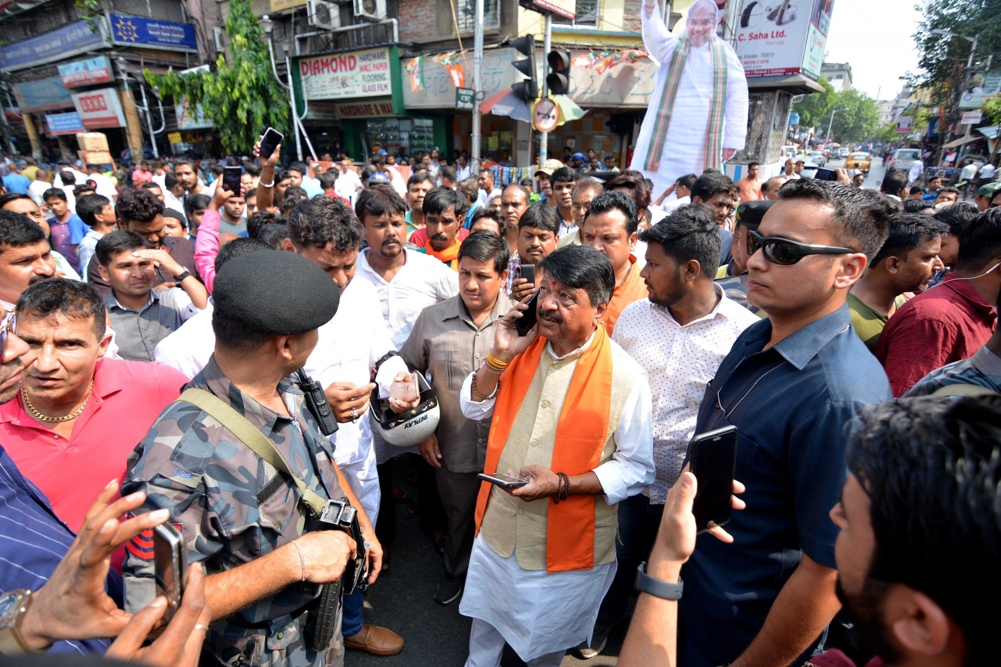 Amit Shah First Ever Mega Road Show Turns Battle Field In
