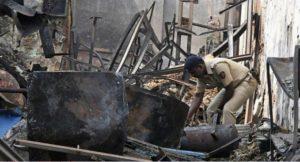 Five people killed, Six-month baby killed, Fire at gas stove warehouse, Mayawati Colony, Indira Nagar, Lucknow, Uttar Pradesh, Regional news, Crime news