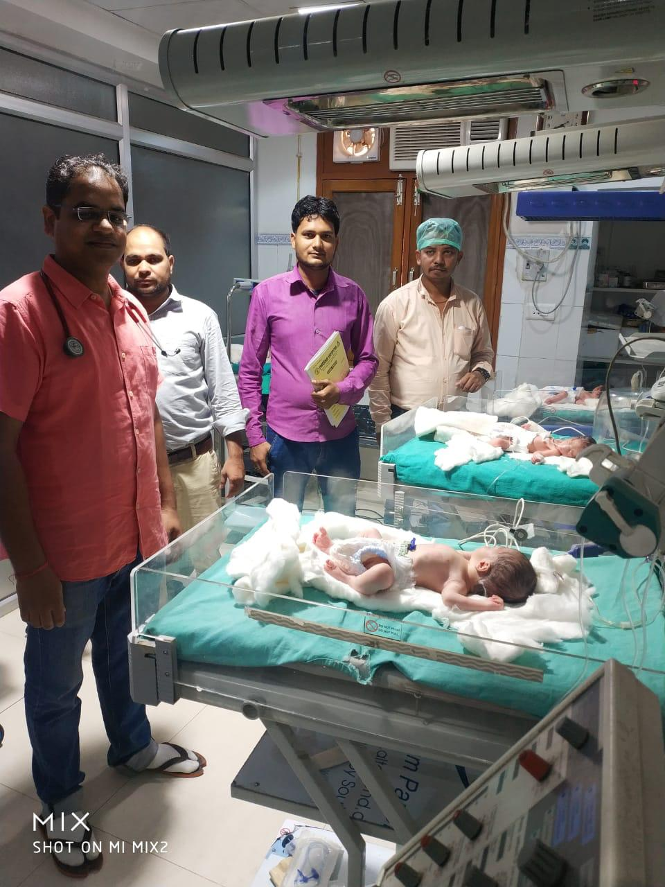 Quadruplets, Four babies, Muslim woman, UP woman delivers quadruplets, First baby, IVF technology, Twins, Triplets, Lucknow, Uttar Pradesh news, Regional news