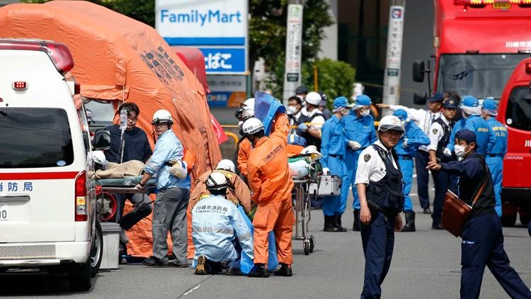 School girls, School children, Knife attack, Shinzo Abe, Donald Trump, Japan Prime Minister, US President, Catholic school, Nippon Medical School Musashi Kosugi Hospital, Kawasaki city, Tokyo, Japan, World news